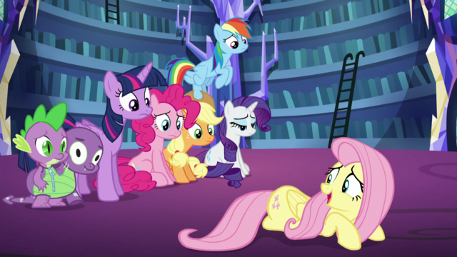 "File:Fluttershy ""just practicing"" S5E21.png"