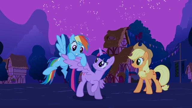 "File:Rainbow ""Twilight's got wings!"" S3E13.png"