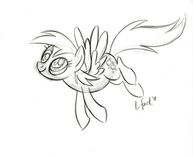 My Little Pony Derpy Hooves Coloring Pages : Image lauren faust derpy hooves sketch g my little