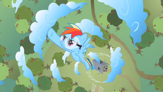 File:Rainbow Dash flying through circle of clouds S2E03.png