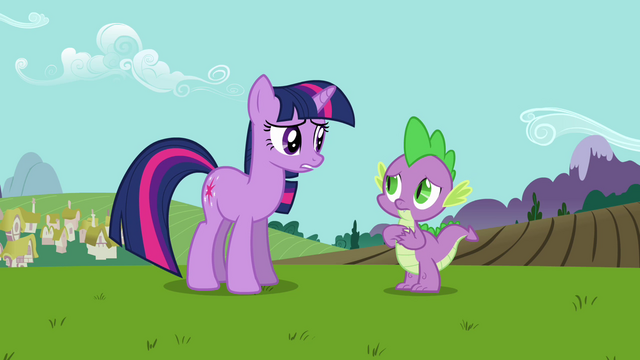 """File:Twilight and Spike """"she's bringing an important visitor"""" S03E10.png"""