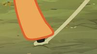 Applejack pushing down the nail S3E06