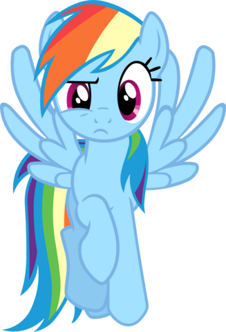 File:FANMADE Rainbow Dash flying and having a weird face expression.png