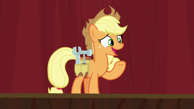 File:Applejack wearing a tool belt S5E16.png