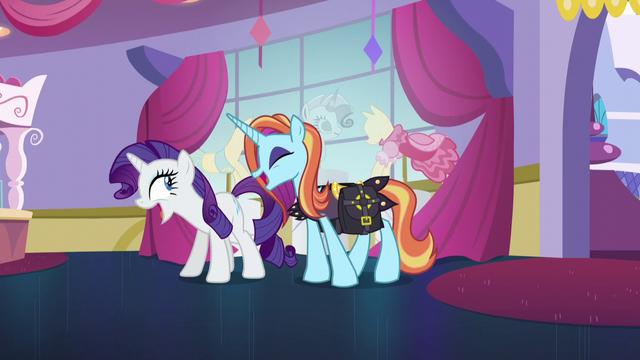 """File:Rarity and Sassy Saddles """"no!"""" S5E14.png"""