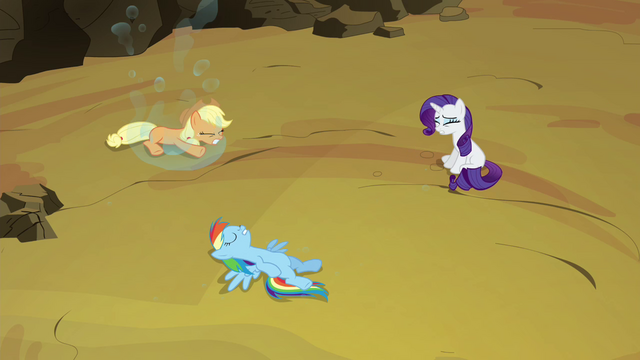 File:Applejack, Rainbow and Rarity freed S4E26.png