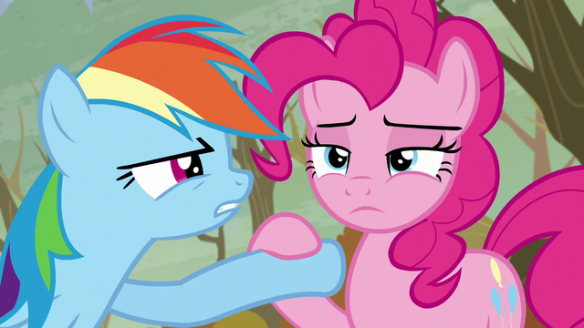 File:Pinkie puts down Rainbow's hoof S5E5.png