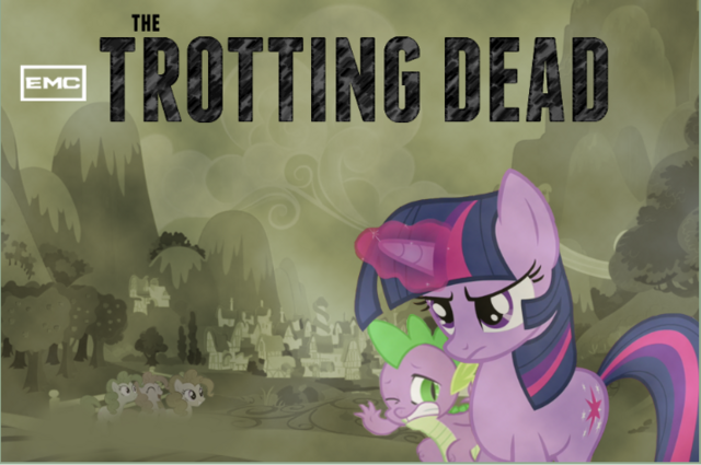 File:FANMADE Twilight and Spike The Trotting Dead.png