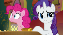 Pinkie Pie spitting some food out S6E12