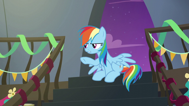 "File:Rainbow Dash ""I told you, it's nothing!"" S6E7.png"