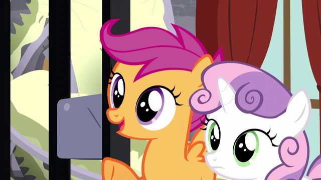 "File:Scootaloo ""we've got a plan to help you"" S5E6.png"