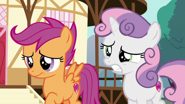 File:Sweetie Belle and Scootaloo a little worried S6E4.png
