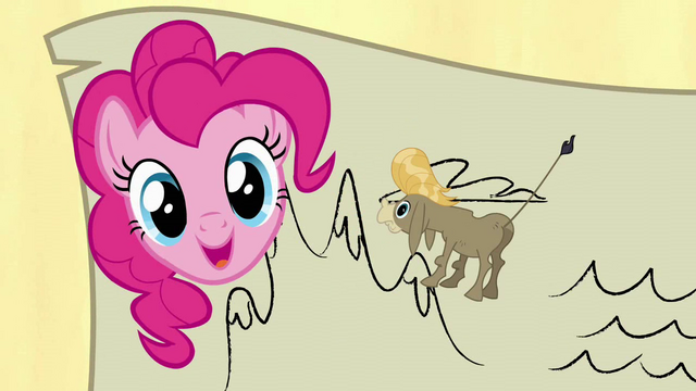File:Pinkie Pie blocking Cranky on the map S2E18.png