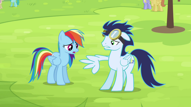 File:Rainbow sees Soarin now with broken wing S4E10.png