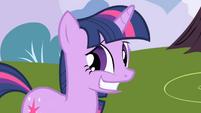 Twilight's awkward smile S1E1