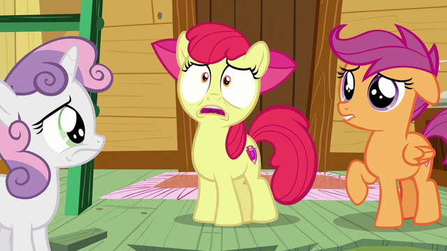 "File:AB ""then the Cutie Mark Crusaders don't have any reason to exist!"" S6E4.png"