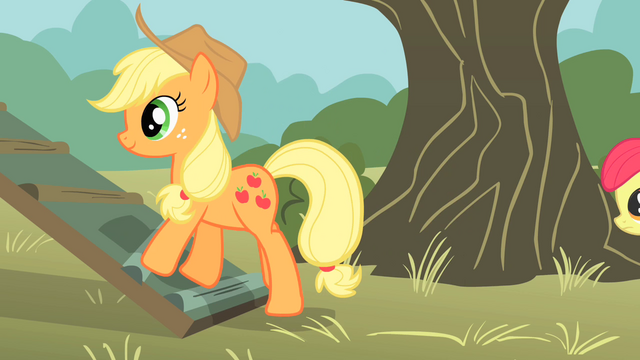 File:Applejack walking up ramp S01E18.png