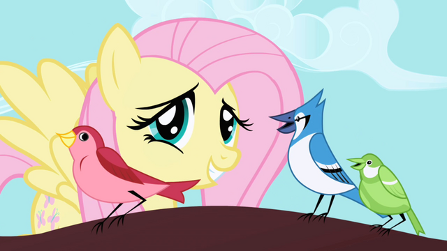 File:Fluttershy correcting a blue jay's rhythm S1E01.png