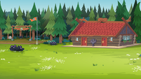 Legend of Everfree background asset - Camp Everfree grounds