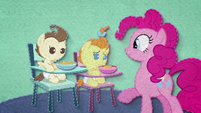 Pinkie Pie feeding Pound and Pumpkin BFHHS2