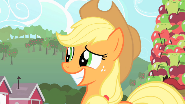 File:Applejack after making her excuse S1E25.png