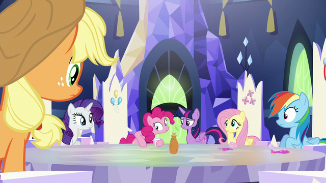 File:Main ponies staring at Pinkie S5E22.png