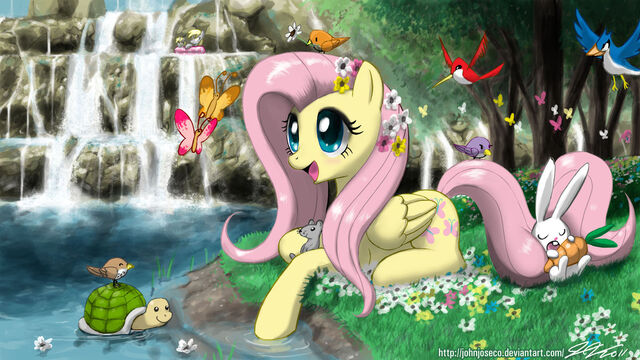 File:FANMADE Fluttershy with animals.jpg