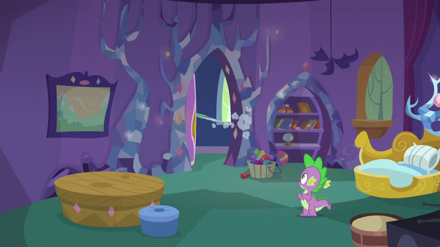 File:Rainbow leaves Spike's room S5E5.png