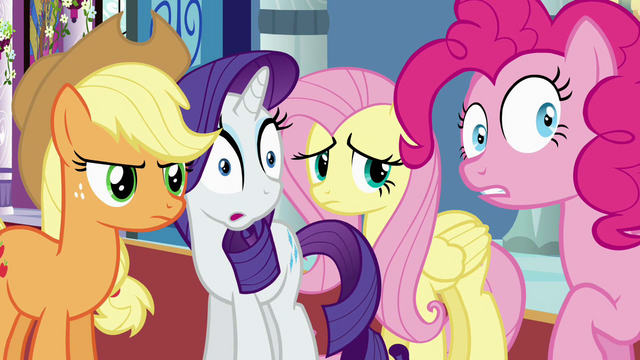 File:Applejack, Rarity, Fluttershy and Pinkie S2E25.png