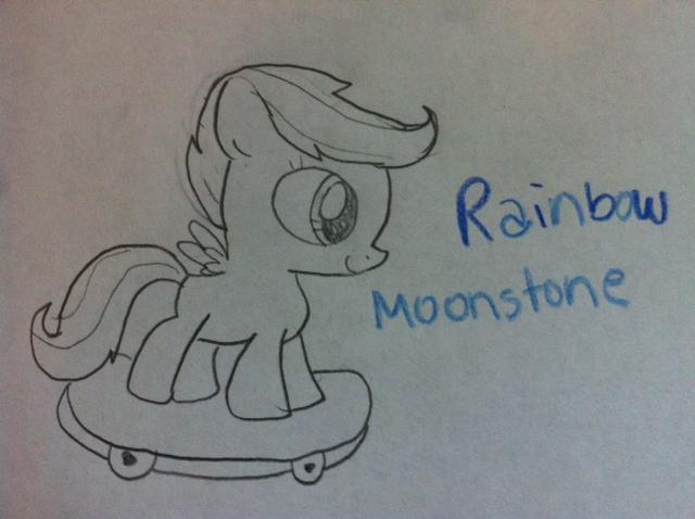 File:FANMADE handrawn X0 rainbow dash x Rainbow Moonstone.jpg
