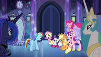 Main 5 and princesses waiting for Twilight EG