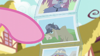 Pinkie points at photo of Cranky Doodle S6E11