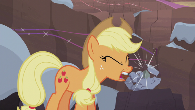 File:Applejack making a Hearth's Warming rock doll S5E20.png