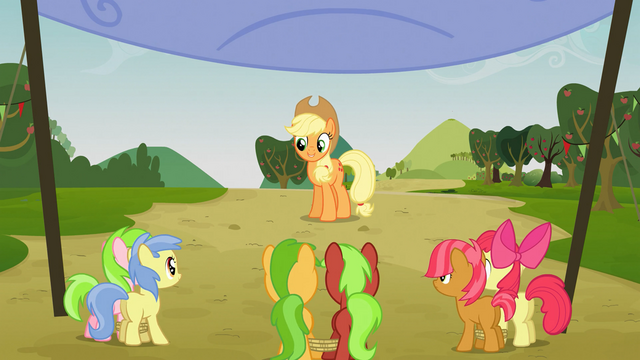 File:Applejack starts the race S03E08.png