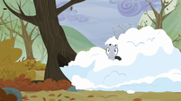 Earth pony covered by snow S5E5