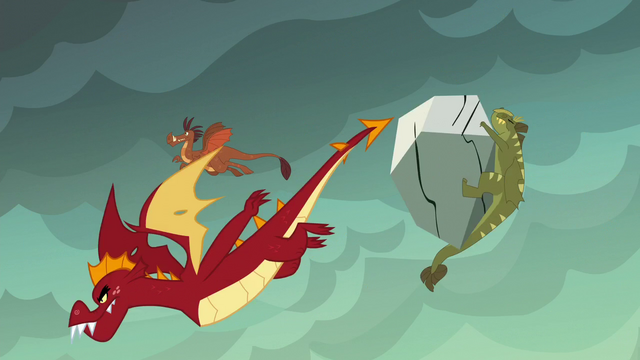 File:Garble flies while other dragons get hit by boulders S6E5.png