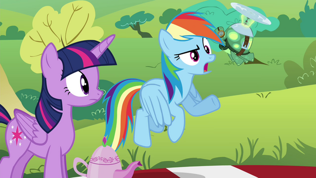 """File:Rainbow """"I doubt she'll notice what anypony's wearing"""" S4E18.png"""