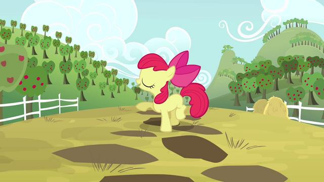 File:Apple Bloom talking about Applejack S4E09.png