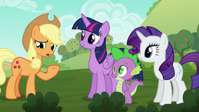 "File:Applejack ""didn't realize there were any problems"" S6E10.png"