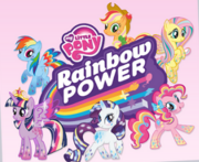 MLP Rainbow Power logo and Mane 6