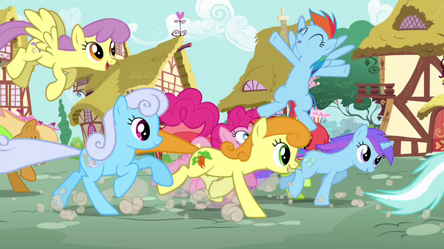 File:Ponies running through Pinkie S4E12.png