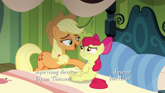 File:Applejack prevents Apple Bloom from rising up S5E04.png