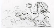 Git along doggie Applejack Sketch