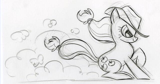 File:Git along doggie Applejack Sketch.jpg