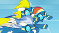 Rainbow Dash crashes into Surprise S6E7.png