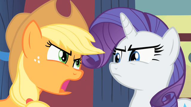 File:Rarity and Applejack S1E21.png