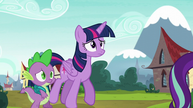 File:Twilight and Spike follow Starlight Glimmer S5E26.png