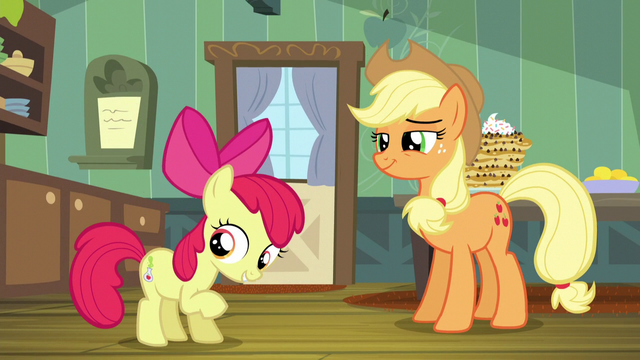 "File:Apple Bloom ""Twilight's lessons finally paid off!"" S5E4.png"
