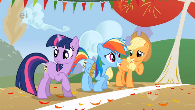 File:Applejack and Dash share some laughs.png