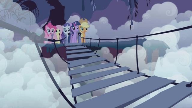 File:Rainbow's friends waiting across the bridge S1E02.png
